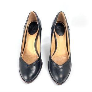 Frye Celeste Black Leather Heels